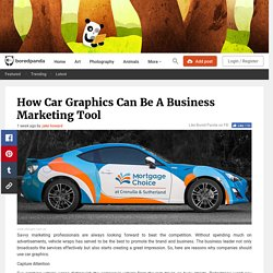 How Car Graphics Can Be A Business Marketing Tool