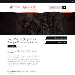 Free Vector Graphics - Orange Computer Icons