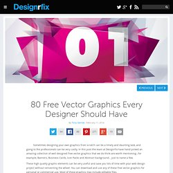 80 Free Vector Graphics Every Designer Should Have