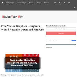 Free Vector Graphics Designers Would Actually Download And Use