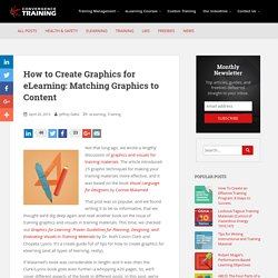 How to Create Graphics for eLearning: Matching Graphics to Content