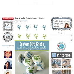 Craft Project - Vintage Bird Knobs - DIY