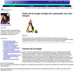 lf211, Graphics: Faites de la magie en ligne de commande avec des images