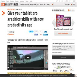 Give your tablet pro graphics skills with new productivity app