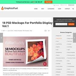 Premium & Free Graphic & Web Design Resources! – 18 PSD Mockups For Portfolio Display – Vol.1