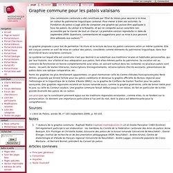 Graphie commune pour les patois valaisans - Wikivalais