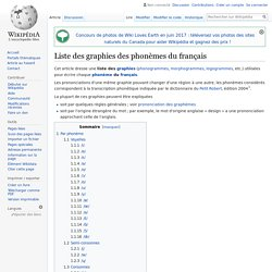 Liste des graphies des phonèmes du français