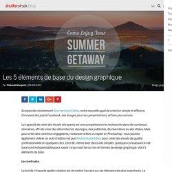 Les 5 éléments de base du design graphique - Le blog de Shutterstock