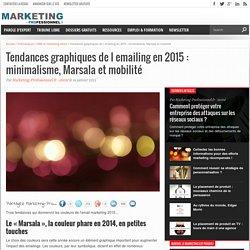 Tendances graphiques de l emailing en 2015 : minimalisme, Marsala et mobilité