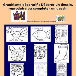 graphisme décoratif ecole maternelle