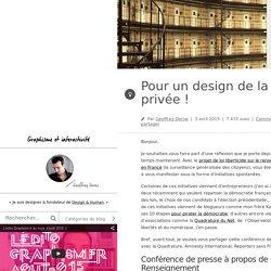 Design & graphisme par Geoffrey Dorne » Pour un design de la vie privée !