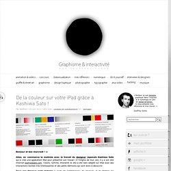 De la couleur sur votre iPad grâce à Kashiwa Sato