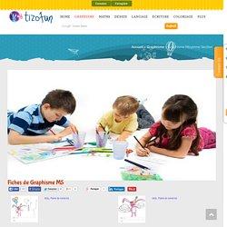 Graphisme MS maternelle à imprimer, le graphisme en maternelle