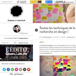 Design & graphisme par Geoffrey Dorne » Toutes les techniques de la recherche en design !