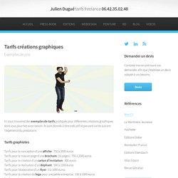 Graphiste Julien Dugué : Tarifs d'un graphiste et facturation d'un illustrateur freelance