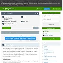 Graphiste/da h/f en CDI - PARIS 12EME (75) - GraphicJobs.com