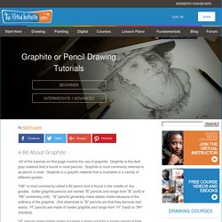 Graphite or Pencil Drawing Tutorials