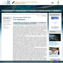 Projet Graphogame (Implémentation et évaluation de « Graphogame » en français sur ordinateur et...)