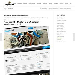 Design an impresive blog layout