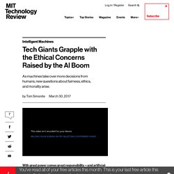 Tech Giants Grapple with the Ethical Concerns Raised by the AI Boom - MIT Technology Review