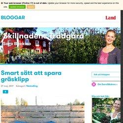 Smart sätt att spara gräsklipp