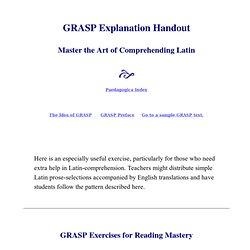 GRASP Explanation Handout