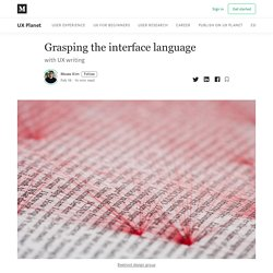Grasping the interface language - UX Planet