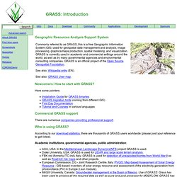 GRASS GIS: Introduction