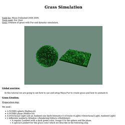 Grass simulation with Fur and Hair