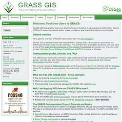 GRASS GIS - Welcome, First time Users of GRASS!