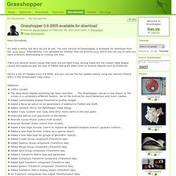 Grasshopper 0.8.0005 available for download