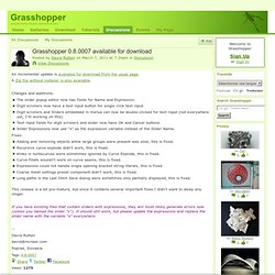Grasshopper 0.8.0007 available for download