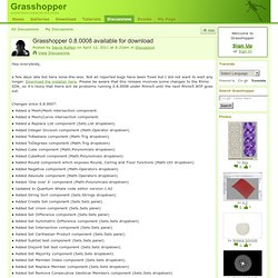 Grasshopper 0.8.0008 available for download