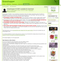 Grasshopper 0.9.0051 available for download