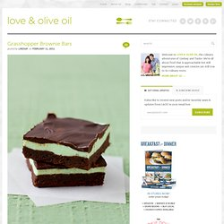 Grasshopper Brownie Bars | Love and Olive Oil