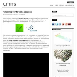 Grasshopper to Catia Progress Update