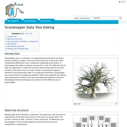Grasshopper Data Tree Editing