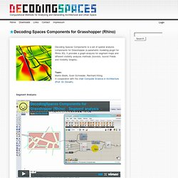 Decoding Spaces Components for Grasshopper (Rhino)