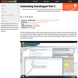 Automating Grasshopper Part 2