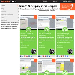 Intro to C# Scripting in Grasshopper