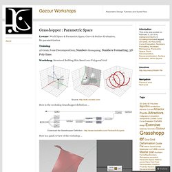 Grasshopper : Parametric Space