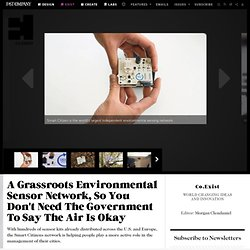 A Grassroots Environmental Sensor Network, So You Don't Need The Government To Say The Air Is Okay