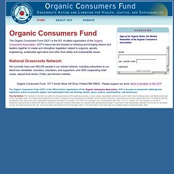 Organic Consumers Fund: Grassroots Action and Lobbying for Health, Justice, and Sustainability