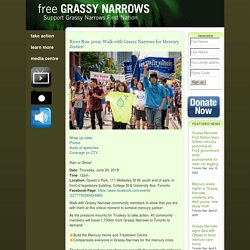 Free Grassy » River Run 2019: Walk with Grassy Narrows for Mercury Justice!