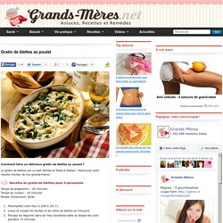 Gratin de blettes au poulet - Recette facile de grand-mère