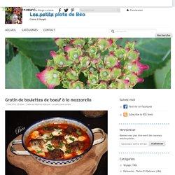 Gratin de boulettes de boeuf à la mozzarella - Les petits plats de Béa