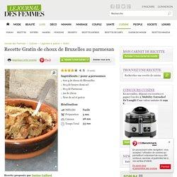 Gratin de choux de Bruxelles au parmesan
