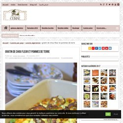 gratin de chou fleur et pommes de terre