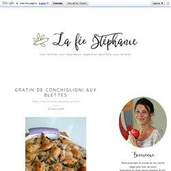 Gratin de Conchiglioni aux blettes