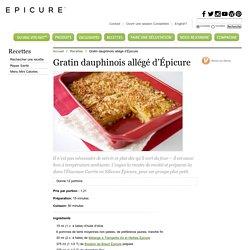 Gratin dauphinois allégé d'Épicure